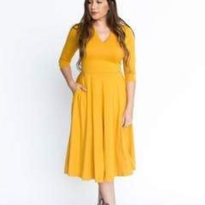 Mustard Curie Dress